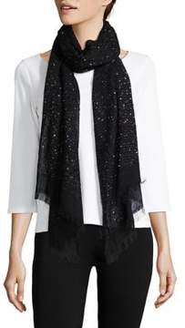 Lord & Taylor Sheer Accented Scarf