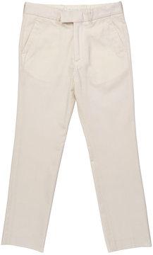 Marie Chantal Boys Formal Cotton Suit Pant - Off White