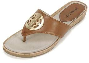 Rialto Womens Calista Open Toe Casual Slide Sandals.