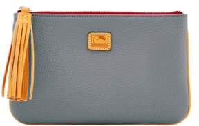 Dooney & Bourke Patterson Leather Carrington Pouch - GREY - STYLE