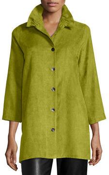 Caroline Rose Faux-Suede Long Shirt