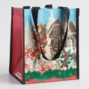 World Market Small Christmas in Europe Tote Bags Set of 2