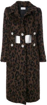 Au Jour Le Jour leopard print cut out coat