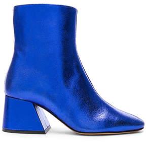 Maison Margiela Laminated Leather Chunky Heel Boots