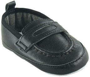 Luvable Friends Black Loafer - Boys