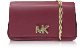 Michael Kors Mott Large Mulberry Leather Clutch - PURPLE - STYLE