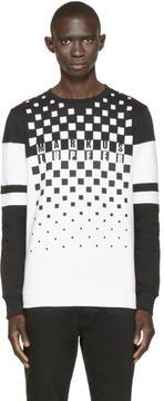 Markus Lupfer Black and White Logo Print Sweatshirt