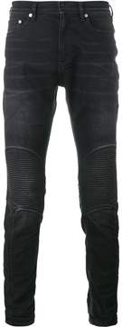 Neil Barrett ribbed knee biker jeans