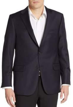 Hickey Freeman Navy Wool Blazer