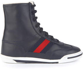Gucci Leather high top trainers