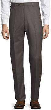 Zanella Men's Devon Flat-Front Virgin Wool Pants