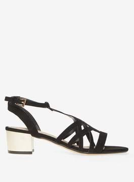 Dorothy Perkins Black Sarah Heeled Sandals