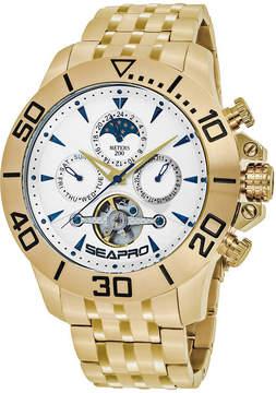 Seapro Sea-Pro Montecillo Mens Gold Tone Bracelet Watch-Sp5134