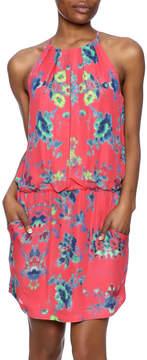 Ali Ro Printed Silk Dress