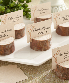 Rustic Stump Place Card Holder - Set of 12