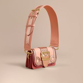 Burberry The Patchwork in Grainy Leather and Snakeskin - PINK - STYLE