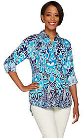 C. Wonder Ikat Print Carrie Blousewith Back Pleat