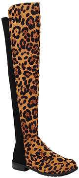 Bamboo Leopard Stretch-Back Over-the-Knee Boot - Women