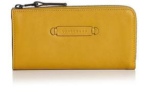 Longchamp 3D 3/4 Zip Leather Wallet - MIMOSA YELLOW/GUNMETAL - STYLE