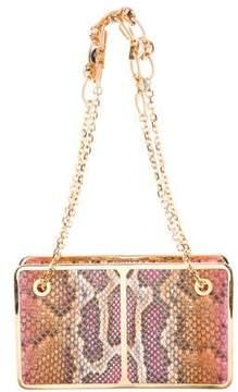 Judith Leiber Structured Snakeskin Bag