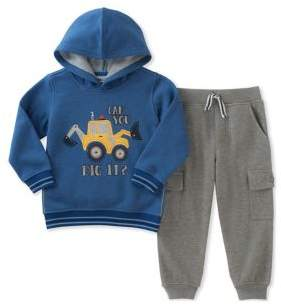 Kids Headquarters Baby Boy's Can You Dig It Hoodie and Jogger Pants Set