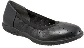 SoftWalk Women's 'Hampshire' Dot Perforated Ballet Flat