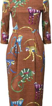 Stella Jean Monkey Printed Dress