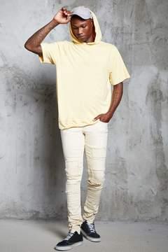 21men 21 MEN Distressed Slim-Fit Moto Jeans