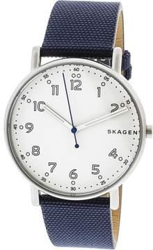 Skagen Men's Signatur SKW6356 Blue Leather Quartz Fashion Watch
