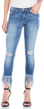 Flying Monkey Distressed Platinum Cropped Jeans