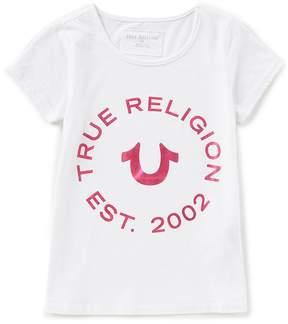 True Religion Big Girls 7-16 Logo Short Sleeve Tee