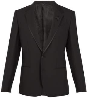 Dolce & Gabbana Bee-embellished wool-blend tuxedo jacket