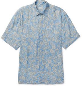 Dries Van Noten Oversized Floral-Print Voile Shirt