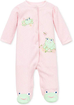 Little Me Baby Coverall, Baby Girls Coverall with Animal Footies