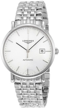 Longines Elegant Automatic White Dial Stainless Steel Men's Watch