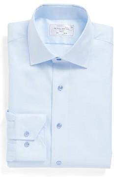 Lorenzo Uomo Men's Trim Fit Houndstooth Dress Shirt