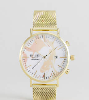 Reclaimed Vintage Inspired Leaf Mesh Watch With Date Exclusive To ASOS