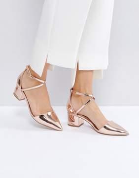 Miss KG Ava Rose Gold Heeled Shoes