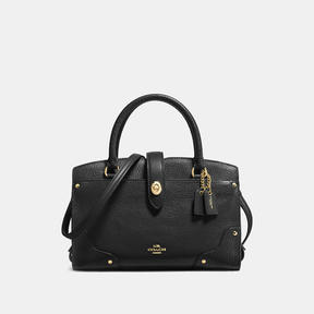 COACH Coach Mercer Satchel 24 In Grain Leather - LIGHT GOLD/BLACK - STYLE