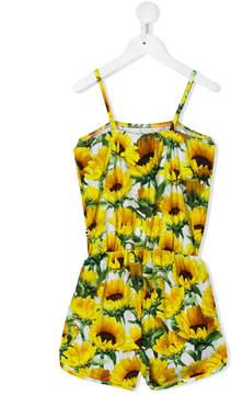 Molo sunflower print playsuit