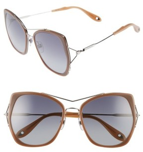 Women's Givenchy 7031/s Airy 55Mm Oversized Sunglasses - Brown/ Palladium