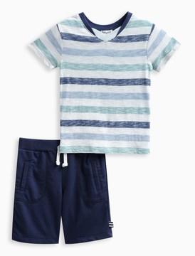 Splendid Little Boy Reverse Print Stripe Set