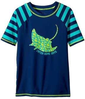 Hatley Friendly Manta Rays Short Sleeve Rashguard Boy's Swimwear
