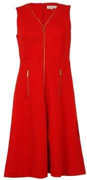 Calvin Klein Women's V-Neck Sleeveless Knee Length Dress