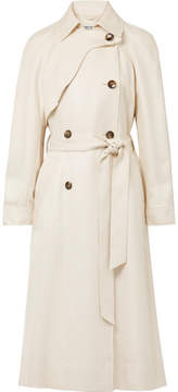 Elizabeth and James Dakotah Frayed Woven Trench Coat - Cream