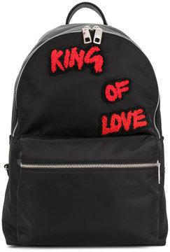 Dolce & Gabbana Vulcano royal patch backpack