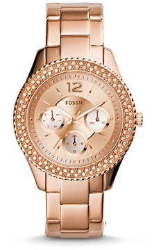 Fossil Stella Multifunction Rose-Tone Stainless Steel Watch
