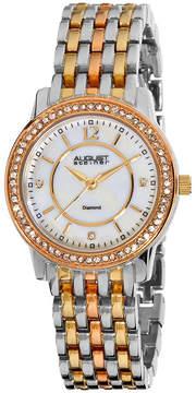 August Steiner Womens Two Tone Strap Watch-As-8027tri
