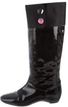 Emilio Pucci Patent Leather Multicolor Knee-High Boots