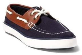 Ralph Lauren Sander Boat Shoe Navy/Tan Leather 10.5